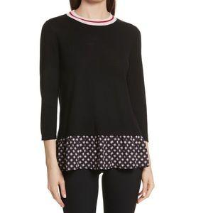 📌 KATE SPADE Black Diamond Mixed Media Sweater In